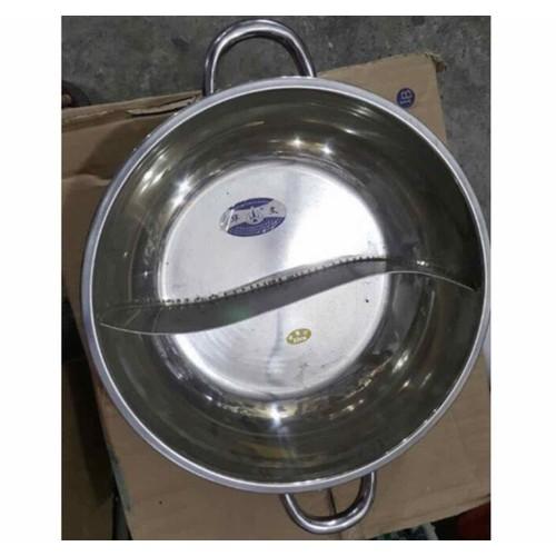 Nồi lẩu 2 ngăn dùng được bếp điện từ phi 34cm dung tích 5 lít