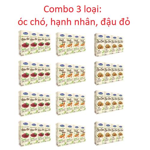 Combo 3 loại sữa đậu nành vinamilk óc chó, hạnh nhân, đậu đỏ - thùng 48 hộp - 13248540 , 21404749 , 15_21404749 , 293000 , Combo-3-loai-sua-dau-nanh-vinamilk-oc-cho-hanh-nhan-dau-do-thung-48-hop-15_21404749 , sendo.vn , Combo 3 loại sữa đậu nành vinamilk óc chó, hạnh nhân, đậu đỏ - thùng 48 hộp