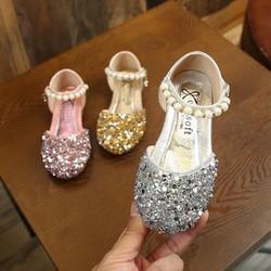 Giày công chúa đính kim sa cao cấp cho bé gái size 21-36