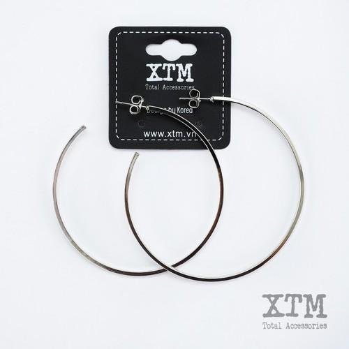 Bông tai kiểu dáng vòng tròn khuyết thương hiệu xtm, phong cách thời trang hàn quốc sang trọng trang nhã, hàng xuất khẩu âu-mỹ xtm-ke071-7