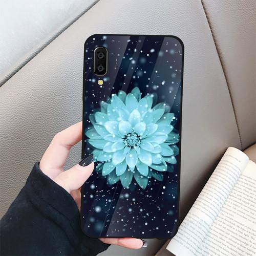 Ốp kính cường lực cho điện thoại samsung galaxy a7 2018 - a750 - đủ nắng thì hoa nở ms dnthn001