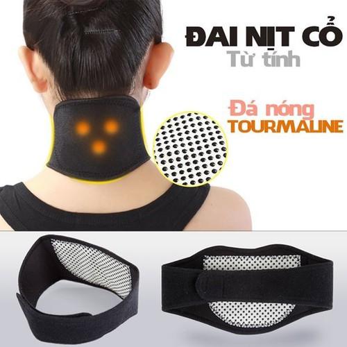 [Không dùng điện] đai cổ đá nóng tourmaline giúp giảm các triệu chứng đau nhức cổ vai