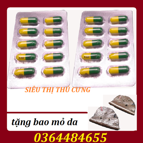 [ hỗ trợ phí vận chuyển ] combo 2 vỉ thuốc chống viêm cho gà - tặng bao mỏ da