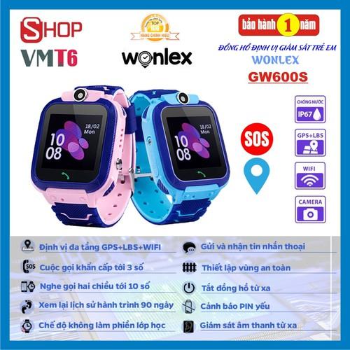 [Giám sát trẻ siêu hiệu quả] đồng hồ định vị thông minh wonlex gw600s - wifi - chống nước ip67 - chính hãng !