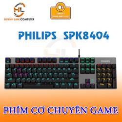 Bàn Phím cơ Philip SPK 8404 màu đen hãng phân phối
