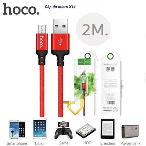Cáp sạc dây dù iphone hoco x14 1m - 2m x14 - shop phụ kiện dt