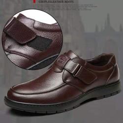 MUA 1 GIÀY TẶNG 1 ĐÔI DÉP,[Siêu Phẩm] Giày lười nam da Bò cao cấp, đế cao su , bảo hành 1 năm