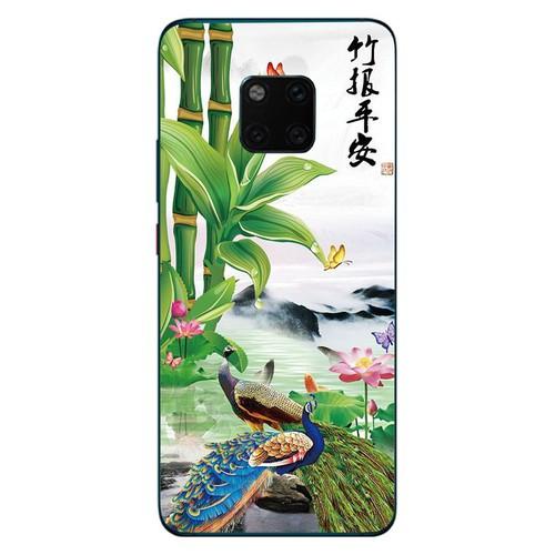 Ốp lưng cứng viền dẻo dành cho điện thoại huawei mate 20 pro - chim công phượng ms cphuong011