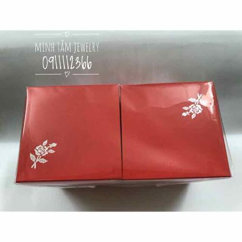 Combo 50 hộp đỏ in hoa hồng đựng trang sức