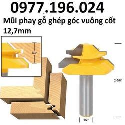 Mũi phay gỗ - Mũi soi gỗ ghép góc vuông cốt 12ly7