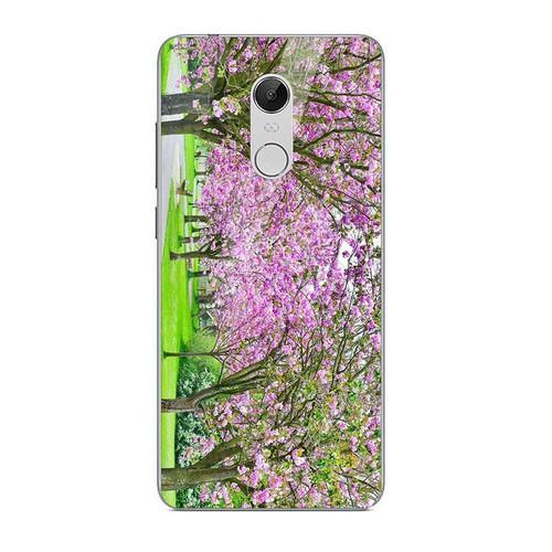 Ốp điện thoại kính cường lực cho máy xiaomi redmi note 4 - 4x - vườn hoa ms vhoa006