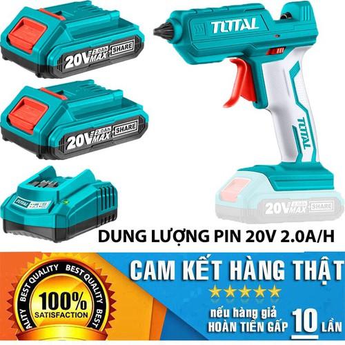 Súng bắn keo dùng pin total 20v kèm 2 pin và 1 sạc - 13314723 , 21489783 , 15_21489783 , 2245000 , Sung-ban-keo-dung-pin-total-20v-kem-2-pin-va-1-sac-15_21489783 , sendo.vn , Súng bắn keo dùng pin total 20v kèm 2 pin và 1 sạc