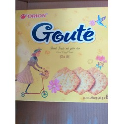 Bánh Goute mè giòn hộp 8 gói chính hãng