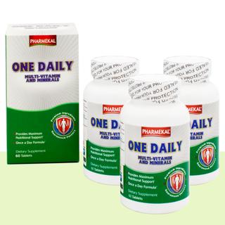 Combo 3 Hộp Viên Uống Bổ Sung Vitamin Và Khoáng Chất One Daily Multivitamin and Mineral Pharmekal - 180 Viên - HAONPH180V thumbnail