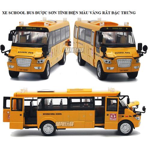 Xe mô hình ô tô school bus tỉ lệ 1 32 bằng kim loại đồ chơi trẻ em
