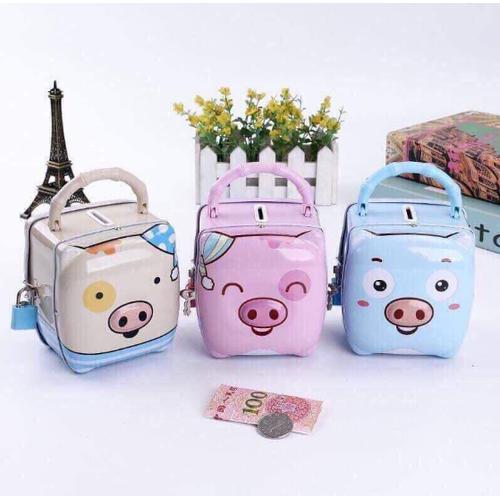 Túi két sắt có khóa mini hình heo dễ thương_hot