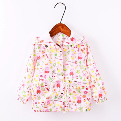 [Giảm ngay 10k ship] áo khoác peppa hồng cho bé gái 3-8 tuổi có mũ rộng đáng yêu bbshine – ak006