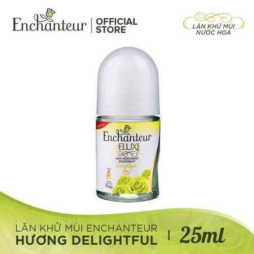Lăn khử mùi hương nước hoa dạng kem sữa enchanteur delightful 24h 25ml