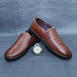 Giày lười da nam cao cấp, đế cao su, bảo hành 1 năm