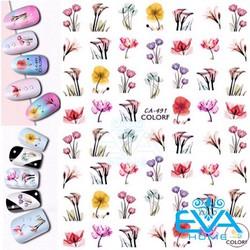 Miếng Dán Móng Tay 3D Nail Sticker Tráng Trí Hoạ Tiết Bông Hoa CA491