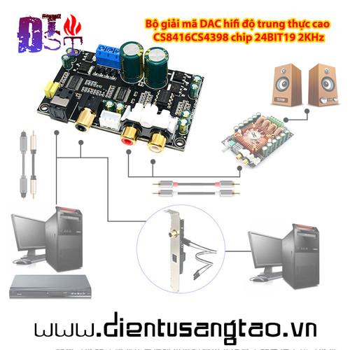 Bộ giải mã dac hifi độ trung thực cao cs8416cs4398 chip 24bit19 2khz - 13308681 , 21481927 , 15_21481927 , 320000 , Bo-giai-ma-dac-hifi-do-trung-thuc-cao-cs8416cs4398-chip-24bit19-2khz-15_21481927 , sendo.vn , Bộ giải mã dac hifi độ trung thực cao cs8416cs4398 chip 24bit19 2khz