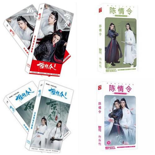 Postcard trần tình lệnh 4 mẫu hộp ảnh bộ ảnh có ảnh dán sticker lomo bưu thiếp ma đạo tổ sư lam vong cơ ngụy vô tiện