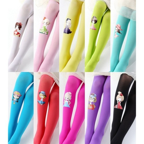 Đôi vớ quần nhiều màu phối hình công chúa cho bé gái 3 đến 7 tuổi