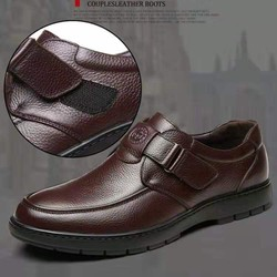MUA 1 ĐÔI GIÀY TẶNG 1 ĐÔI DÉP [Siêu Phẩm] Giày lười da nam cao cấp, đế cao su , bảo hành 1 năm