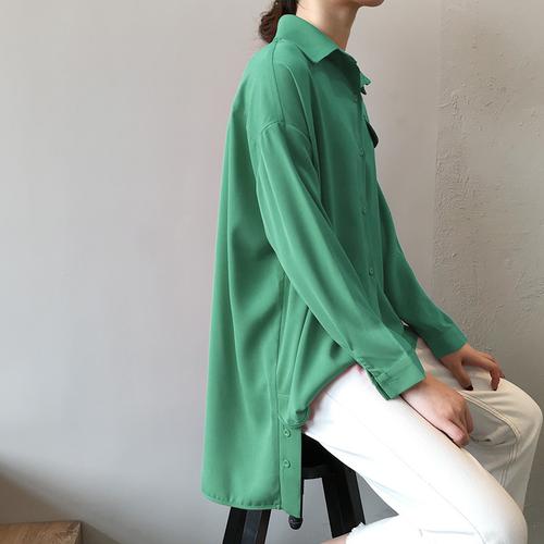 [Siêu sale]- áo sơ mi form dài dáng rộng siêu đẹp