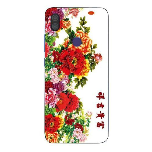 Ốp lưng điện thoại xiaomi redmi note 6 - mẫu đơn ms maudon009