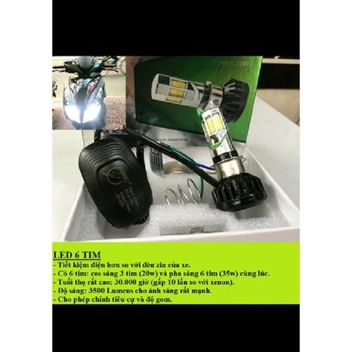 Led 6 tim điện máy xe máy - vindecal bd