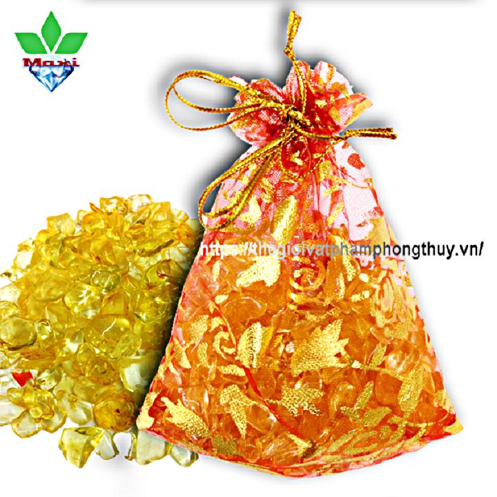 Túi Tài Lộc Thạch Anh Vàng - TTL005 6