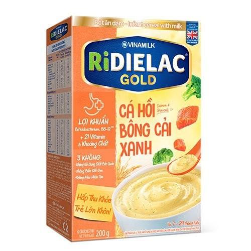 Bột ăn dặm ridielac gold cá hồi bông cải xanh - hộp giấy 200g - 13328577 , 21507187 , 15_21507187 , 56870 , Bot-an-dam-ridielac-gold-ca-hoi-bong-cai-xanh-hop-giay-200g-15_21507187 , sendo.vn , Bột ăn dặm ridielac gold cá hồi bông cải xanh - hộp giấy 200g