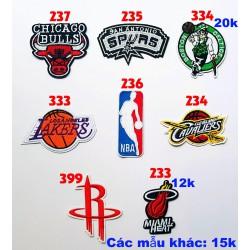 Sticker vải bóng rổ NBA