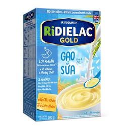 BỘT ĂN DẶM RIDIELAC GOLD GẠO SỮA - HỘP GIẤY 200G