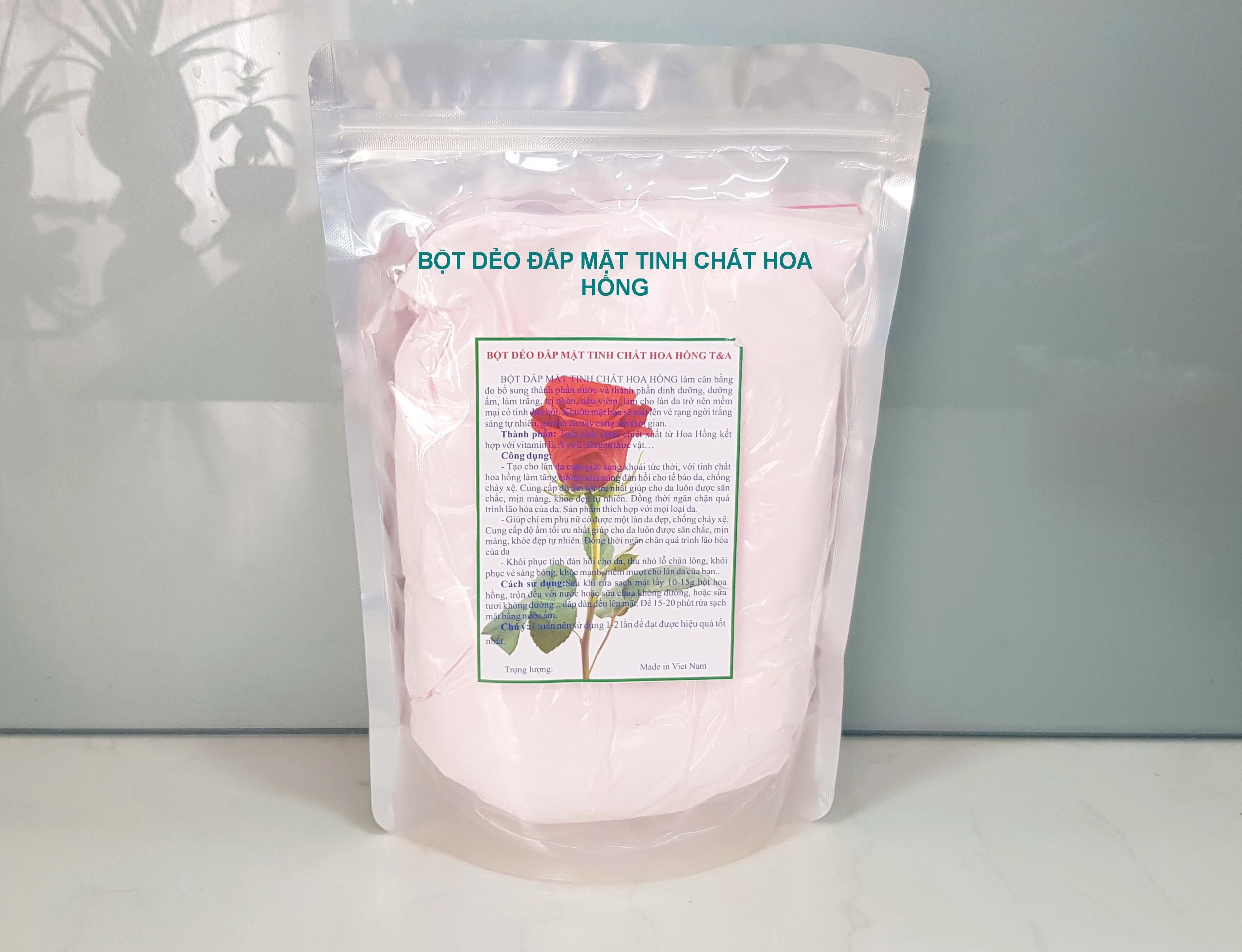 Bột dẻo đắp mặt tinh chất Hoa Hồng, bột dẻo hoa hồng, mặt nạ bột dẻo hoa hồng, bột đắp mặt dẻo