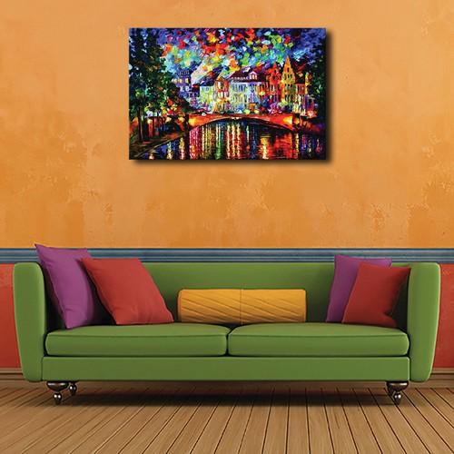 Tranh in canvas trang trí phòng khách hiện đại_60x80
