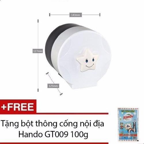 Hộp đựng giấy vệ sinh cỡ nhỏ tặng bột thông cống