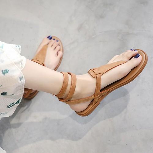 Giày sandal thời trang nữ xỏ ngón quai vòng cổ chân - linus ln1792