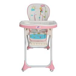 Ghế ngồi ăn cao Mastela MSTL-1015-PUPRIN-T3 màu hồng hình hươu cao cổ