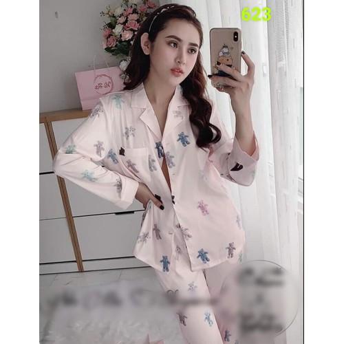 Bộ ngủ pyjama lụa dài gấu yêu 623 - 20220306 , 21526759 , 15_21526759 , 700000 , Bo-ngu-pyjama-lua-dai-gau-yeu-623-15_21526759 , sendo.vn , Bộ ngủ pyjama lụa dài gấu yêu 623