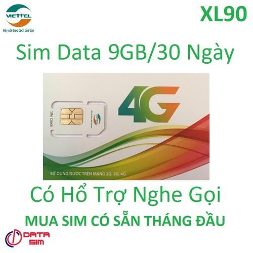 Sim 4g viettel data khủng 9gb tốc độ cao-xl90 có sẵn tháng đầu