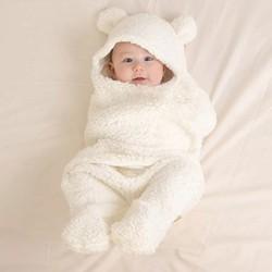 Chăn quần ủ kén hình thú, khăn ủ kén nâng niu bảo vệ sức khỏe con yêu tặng kèm móc treo đồ sơ sinh