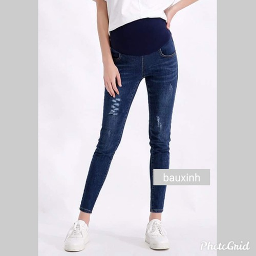 Quần jeans bầu dạo phố - 13347371 , 21550907 , 15_21550907 , 180000 , Quan-jeans-bau-dao-pho-15_21550907 , sendo.vn , Quần jeans bầu dạo phố