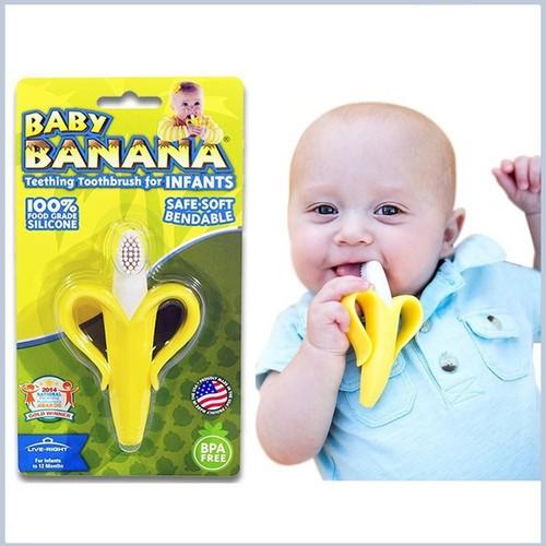 Bàn chải đánh răng cho bé hình chuối kichilachi - an toàn cho sức khỏe - kichi008