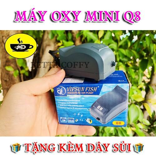 ❄️ máy bơm oxy hồ cá 1 vòi vipsun fish q8 mini   tặng 1m dây + 1 viên đá sủi oxi
