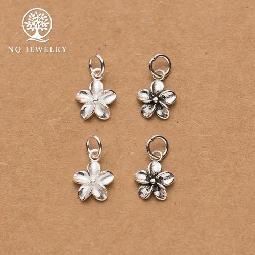Phụ kiện bạc hình hoa năm cánh treo - nq jewelry