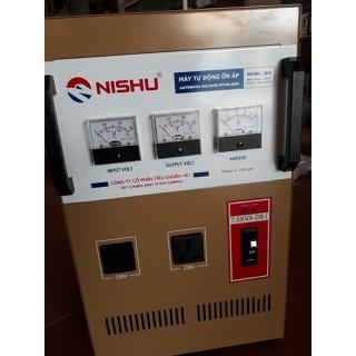 Ônr áp nishu 7.5kw giải 90-250v, thế hệ mới nhất có thêm 1 đồng hồ báo điện vào - NS.7500-DR thumbnail