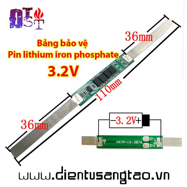 Mạch sạc xả bảo vệ Pin lithium iron phosphate 1 cell 3.2V 10A