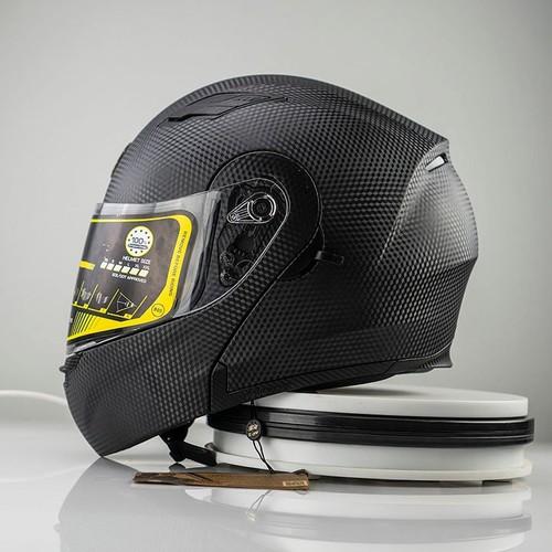 Mũ bảo hiểm fullface roy-al m179 lật hàm 2 kính vân carbon chính hãng